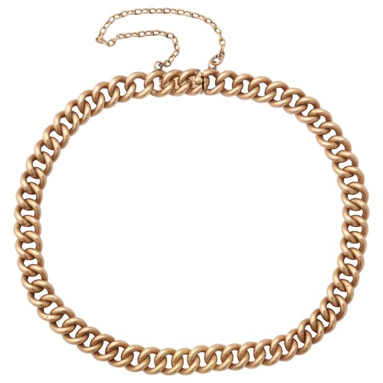 Russian Rose Gold Link Bracelet, Circa 1910 1