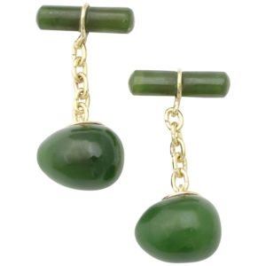 Nephrite Gold Cufflinks