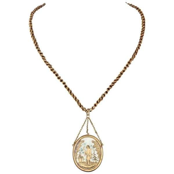 French Gold Napoleonic Era Pendant, circa 1810