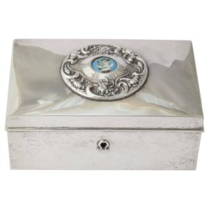 American 19th Century Silver Love Letter Box