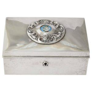 American 19th Century Silver Love Letter Box