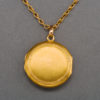 19th Century French Gold Locket and Chain
