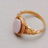 French Napoleon III Gold and Agate Signet Ring, 19th century