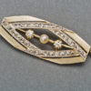 French Art Deco Diamond Gold Pin, 1920s