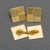 French Gold Cufflinks 1940s