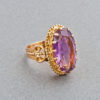 French Amethyst Gold Ring, 19th Century