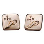 Russian Gold & Diamond Cufflinks, 1880s