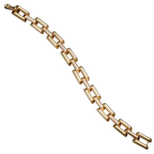 Retro Two Color Gold Link Bracelet, 1950s