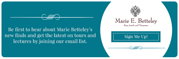 Hear about rare, antique, vintage jewelry and treasures, plus upcoming tours and lectures when you join our list.