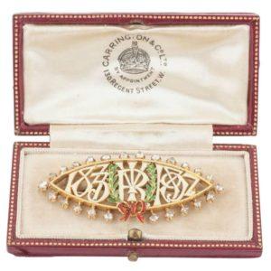 Queen Victoria Enameled Commemorative Pin