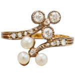 English Pearl and Diamond Ring, circa 1890