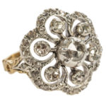 Dutch Rose Diamond Floral Ring