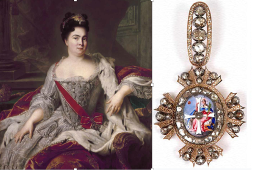 Catherine I wearing order of St. Catherines